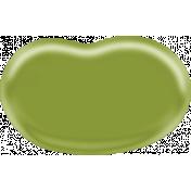 Easter- Green Jellybean Element