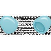 Easter- Plastic Egg Element Blue