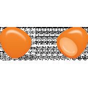 Easter- Plastic Egg Element Orange