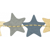 Sleepy Time- Paper Stars Border