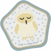 Sleepy Time-Who's A Sleepy Head Owl Tag