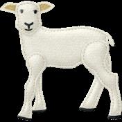 Sleepy Time- Felted Lamb