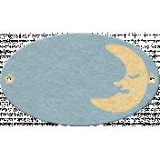 Sleepy Time- Oval Moon Tag