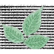 Gentle Blooms- Painted Green Leaf Cluster