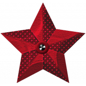 Robbie's Rockin' Red- Star Ornament Red