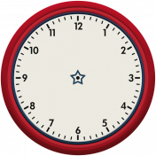 Robbie's Rockin' Red- Clock