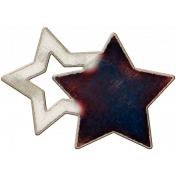 Robbie's Rockin' Red- Stars Woodchip