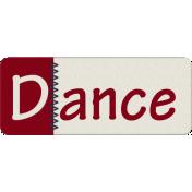 Robbie's Rockin Red- Stitched Dance Tab