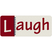 Robbie's Rockin Red- Stitched Laugh Tab
