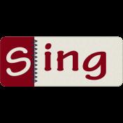 Robbie's Rockin Red- Stitched Sing Tab