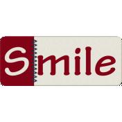 Robbie's Rockin Red- Stitched Smile Tab