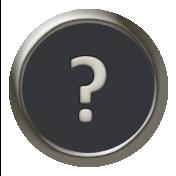 Times To Remember- Mini Kit- Typewriter Key- Question Mark