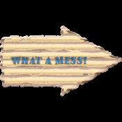 Organized Mess- Elements Kit- What A Mess Arrow