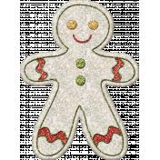 Gingerbread Man Glittered 2