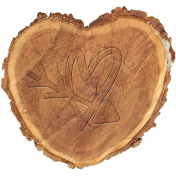 Embossed wood heart