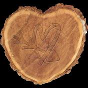 Embossed wood heart