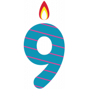 Birthday Wishes- Candle 9
