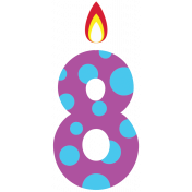 Birthday Wishes- Candle 8