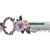 Fall Beach Vacation Embellishment Border 2