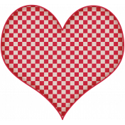 We're All Mad Here Checkered Heart