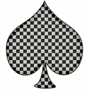 We're All Mad Here Checkered Spade