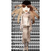 Altered Art Flower Hair Lady