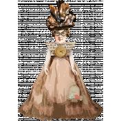 Altered Art Bird Lady