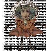 Altered Art Nouveau Woman