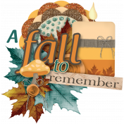 A Fall to Remember Word Art #10