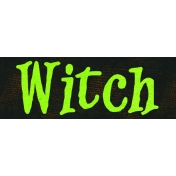 Witch's Brew Word Tag #1