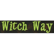 Witch's Brew Word Tag #6