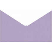 I Love Purple Envelope Front