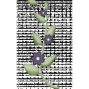 I Love Purple Flower Vine