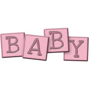 Welcome Little One Blocks- girl