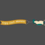 Enjoy Each Moment Plane Banner