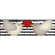 """Valentine """"Not"""" Grunge Love Birds"""