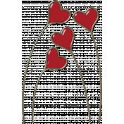 Valentine Grunge Heart Stalks