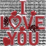 Valentine Grunge Word Art 2