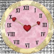 Valentine Grunge Clock