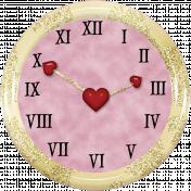 Valentine Not Grunge Clock