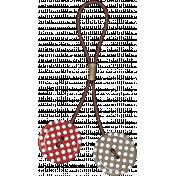 Strawberries & Chocolate- button fastener