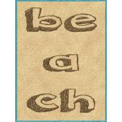 Just Beachy- journal/pocket card 7