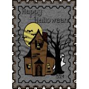 Spooktacular- postage stamp 2