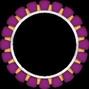 Christmas Magic- circle frame