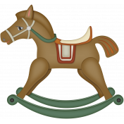 Retro Holly Jolly- rocking horse
