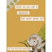 Dino-Mite, Pocket Card 2, 3x4