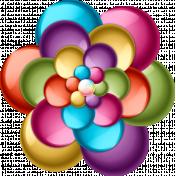 Flowerpop Multi-colored Flower 1