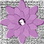 Flowerpop Purple Wooden Flower 1