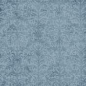 Vintage Blue Damask Fabric Paper
