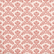 Freedom - Red Damask Paper